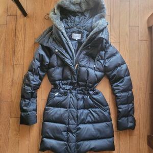 Laundry by Shelli Segal Fur Lined Puffer Coat